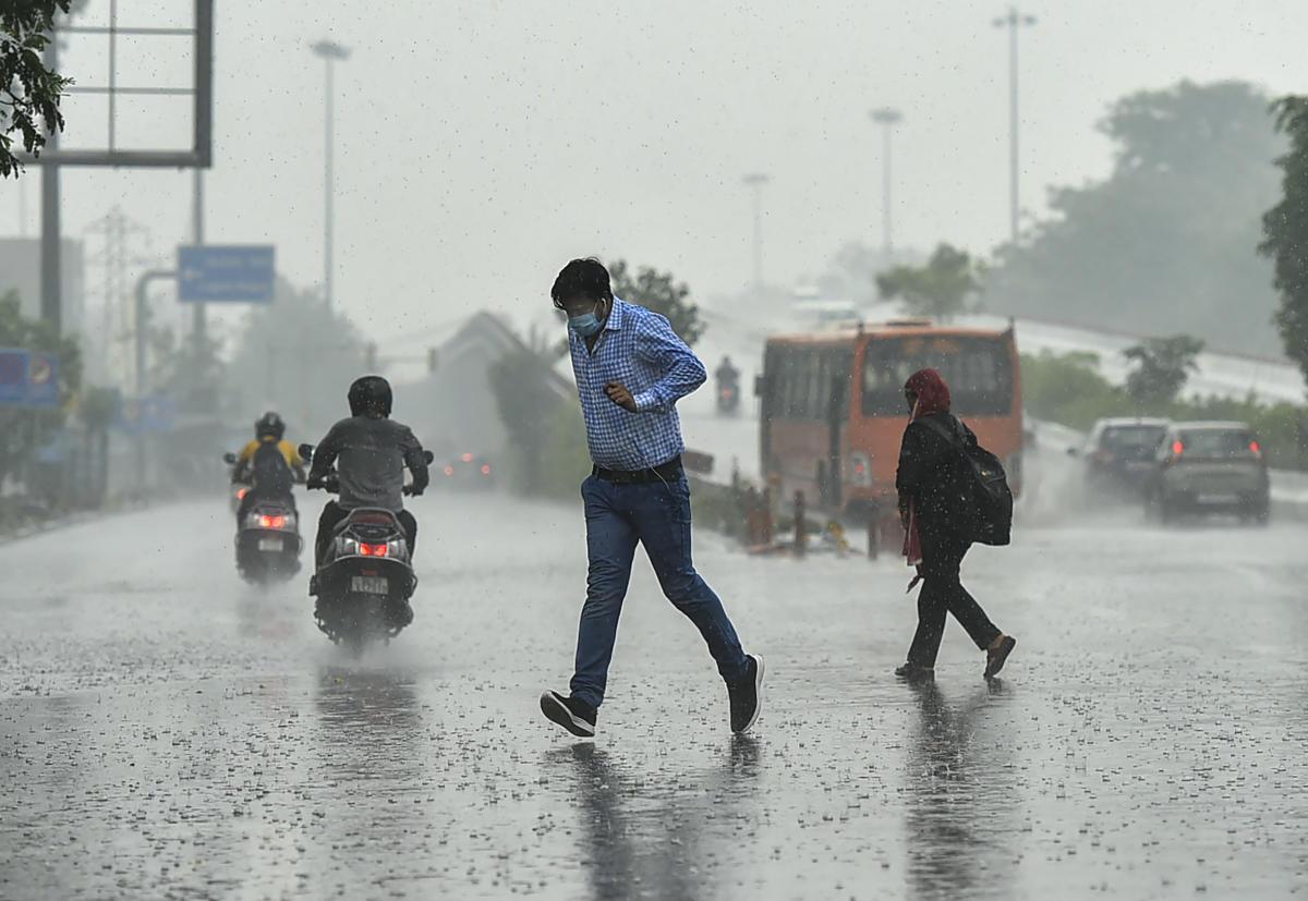 delhi rain today