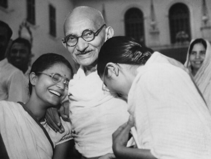 Gandhi with her Daughter